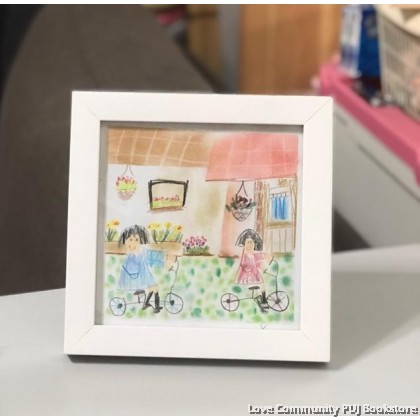 粉彩 白色画框 White frame